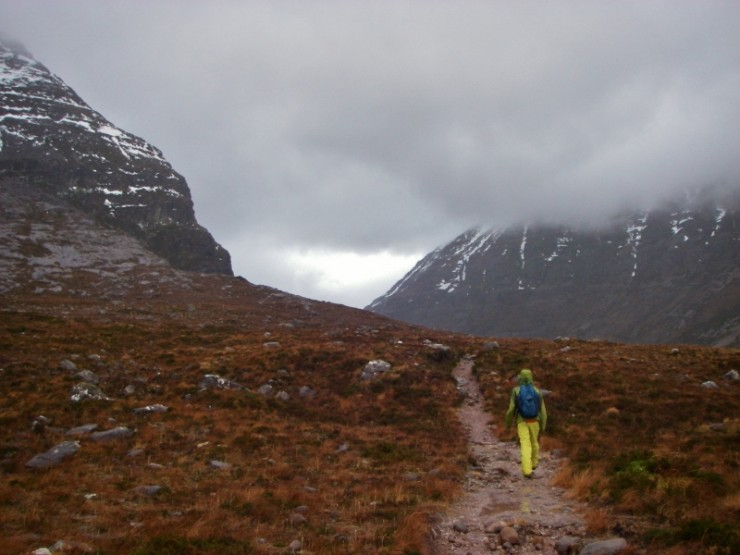 On the way into Coire Duibh Bhig, Liathatch, in search of snow