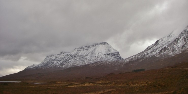 Superficial new snow cover on Liathach
