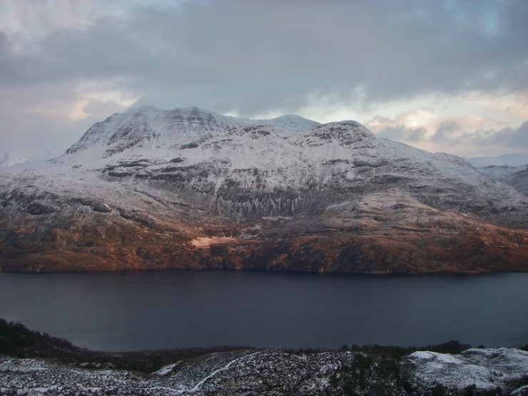 At long last a wintery view of Slioch!
