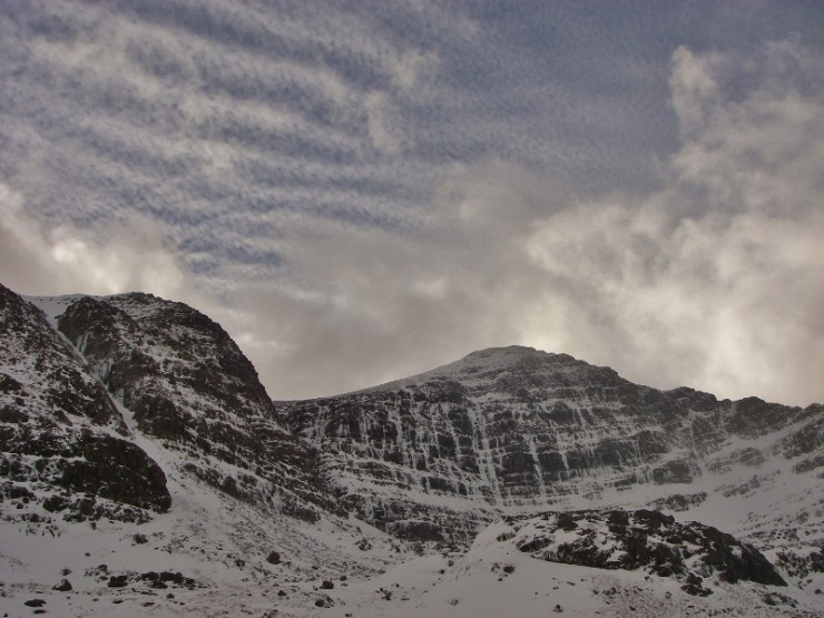 Liathach, Coire Dubh Mor with all ice lines complete!