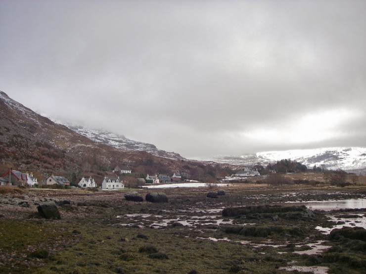 Snow gone from Torridon village after thaw starting yesterday.