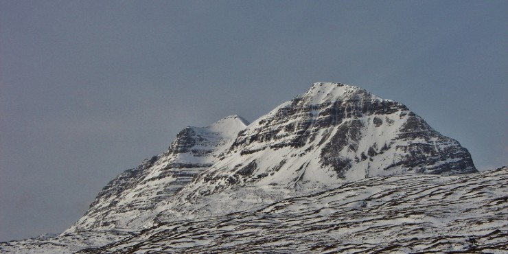 Liathach. Spectacular! Walkers summiting were visible from the road.