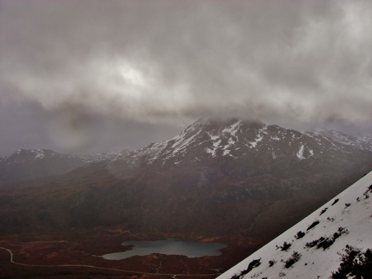 Sgurr Dubh 782m and snow disappearing fast.