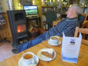 The Torridon Coffee Shop is often a great place to meet walkers and climbers after a day out. good fire, cake and coffee too..