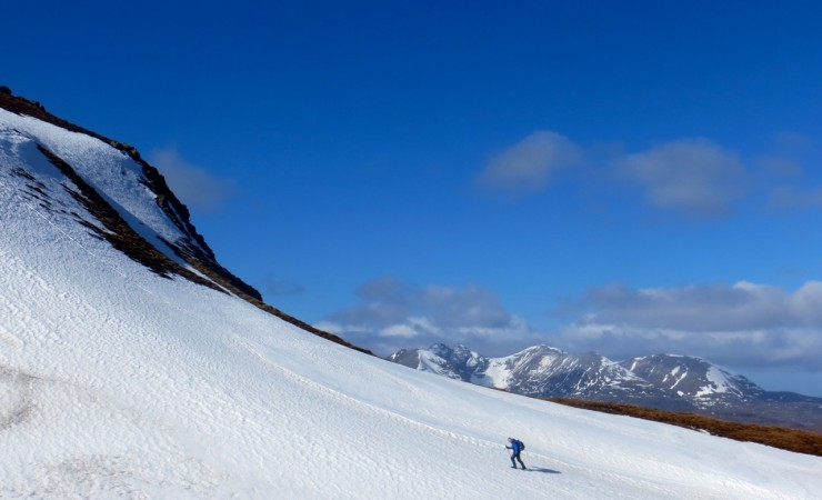 Approaching the top of Meall an t Sithe.  (The Witch's hill).
