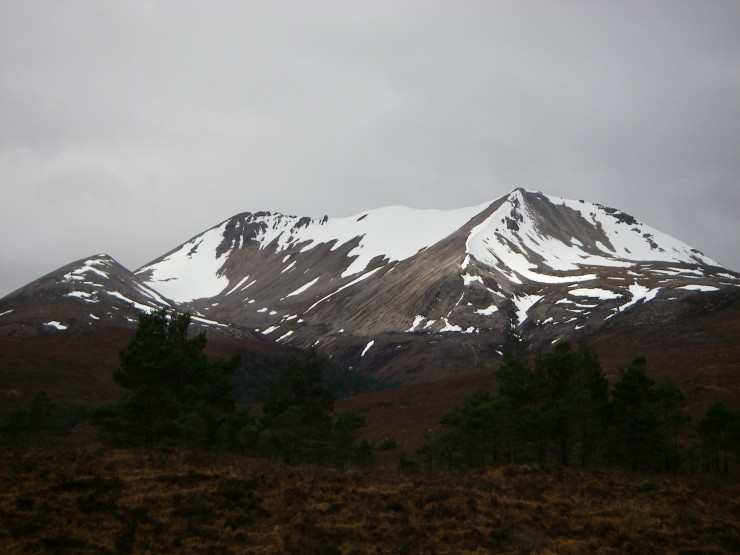East end of Beinn Eight has the most snow as usual