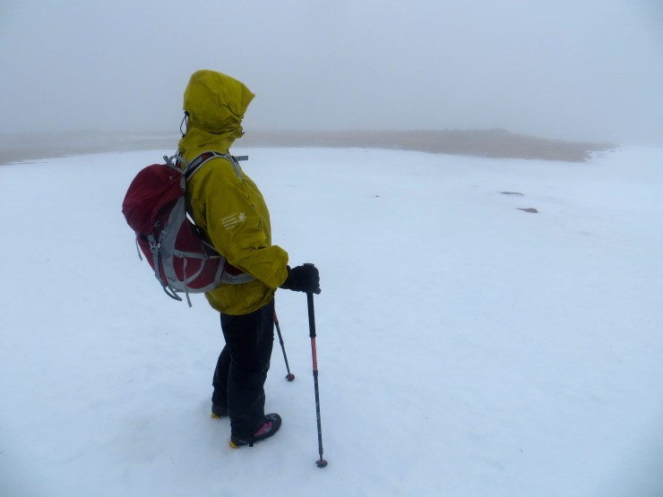 The snow at 700 metres on Sgurr a'Chaorachain was moist but stable.