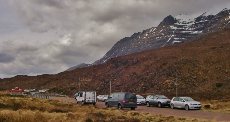 But it might be busy judging by the number of cars in the Coire Dubh park!