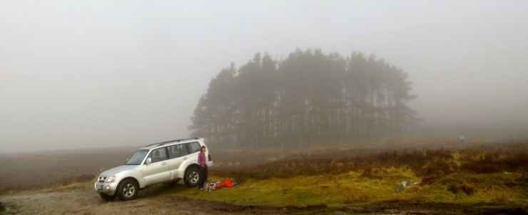 Early morning in the glen did not look too promising.