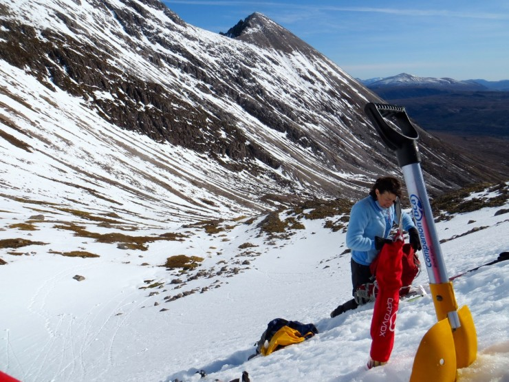 Looking to Sgurr Ban ridge on Beinn Eighe from today's profile site.