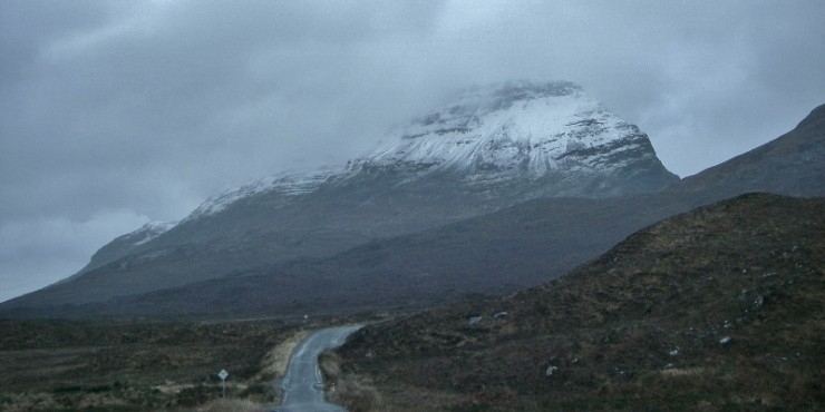 Snow level at 600m on east end of Liathach