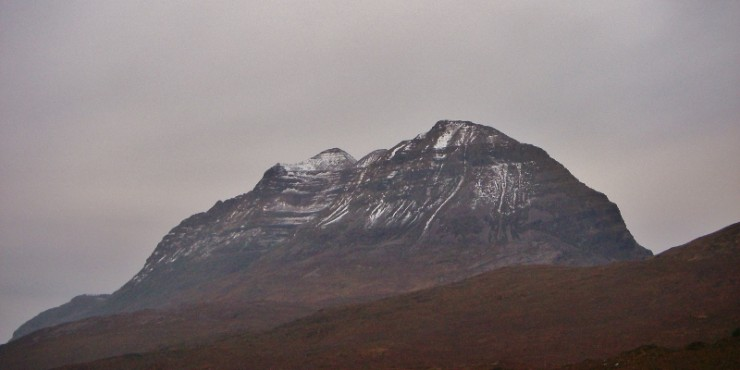 Liathach not looking so majestic in the rapid thaw.