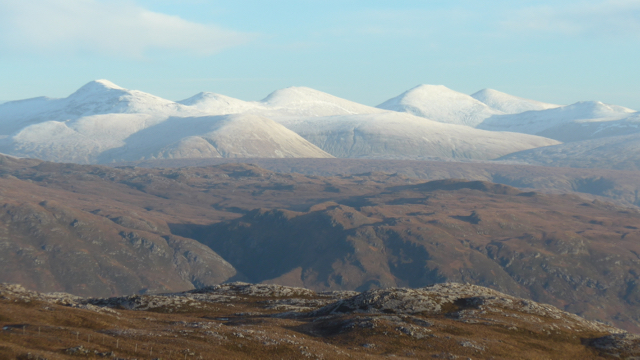 Looking toward the Fannichs