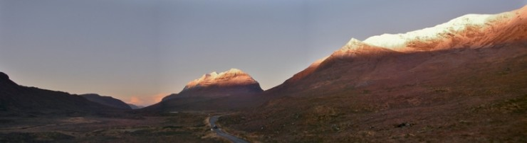 Morning Alpenglow on Liathach and Coire an Laoigh, Beinn Eighe.
