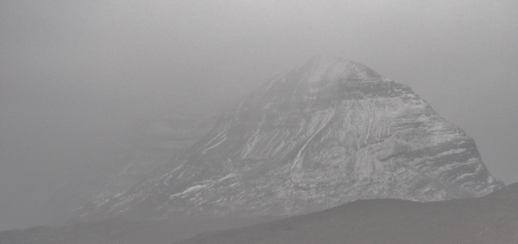 Liathach, about to be swallowed up in the next stormy shower