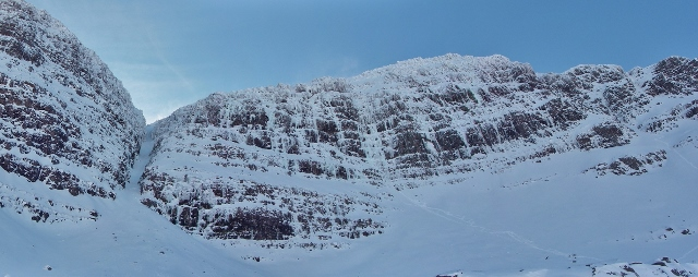 Liathach - Coireag Dubh Mor. 4 parties on Poacher's Fall, 1 on Salmon Leap, 0 elsewhere!