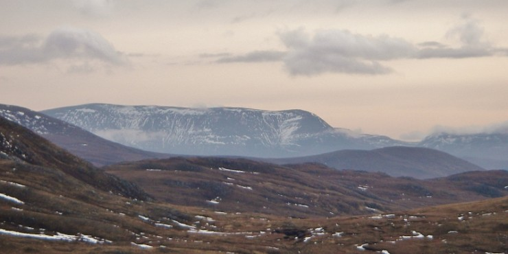 Not much snow left on the west side of Ben Wyvis.