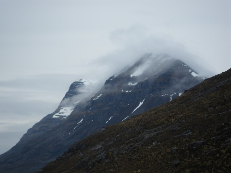 Cloud building over Liathach