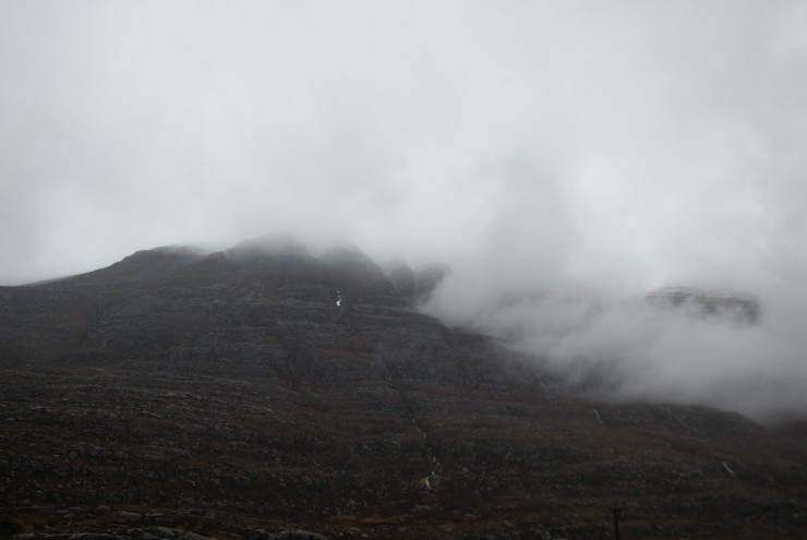 A clear spell on Liathach between spells of heavy rain